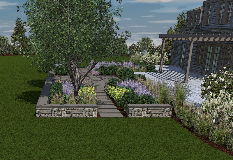 3d renderings edgewater landscape design for Architect 3d home landscape design